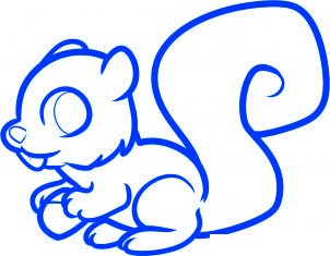 dessiner un ecureuil - etape 7