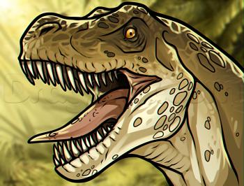 dessin de dinosaure t rex termine terminé