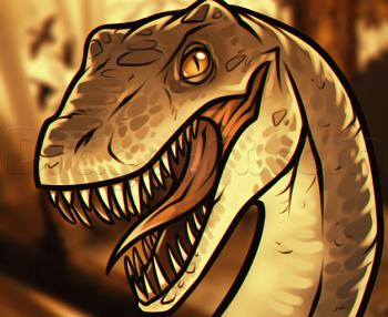 dessin de raptor termine terminé