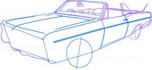 dessiner une voiture lowrider - etape 3