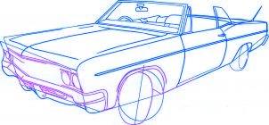 dessiner une voiture lowrider - etape 4