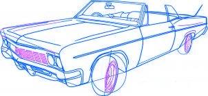dessiner une voiture lowrider - etape 5