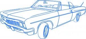dessiner une voiture lowrider - etape 6