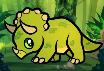 dessin de triceratops termine terminé