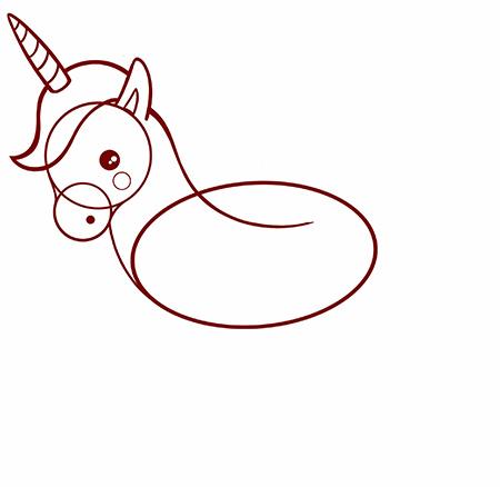 dessiner une licorne facile - etape 4