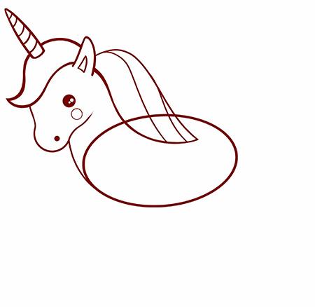 dessiner une licorne facile - etape 5