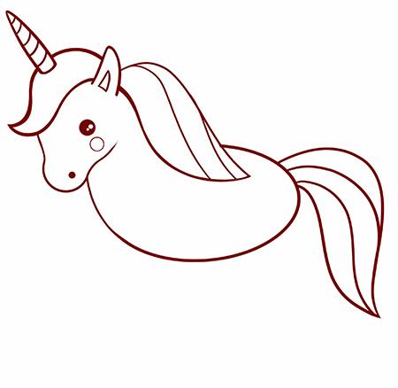 dessiner une licorne facile - etape 6