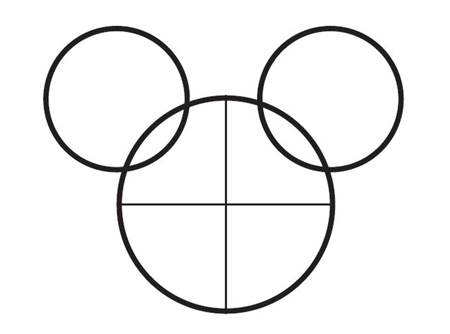 dessiner Mickey de disney - etape 2