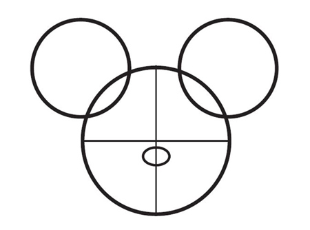 dessiner Mickey de disney - etape 3