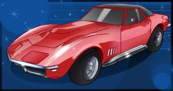 dessin de voiture Corvette terminé