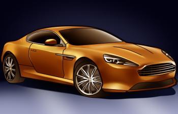Comment dessiner une voiture de sport aston martin virage allodessin - Voiture de sport a colorier ...