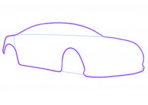 dessiner une voiture de sport aston martin virage - etape 2