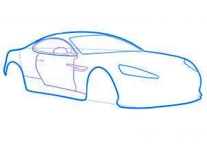 dessiner une voiture de sport aston martin virage - etape 4