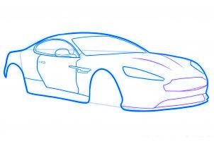 dessiner une voiture de sport aston martin virage - etape 5