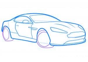 dessiner une voiture de sport aston martin virage - etape 6