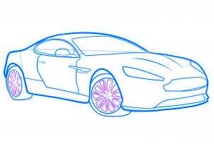 dessiner une voiture de sport aston martin virage - etape 7