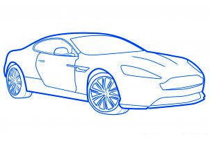dessiner une voiture de sport aston martin virage - etape 8