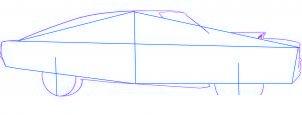 dessiner une voiture Dodge Charger 1969 - etape 2