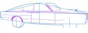 dessiner une voiture Dodge Charger 1969 - etape 3