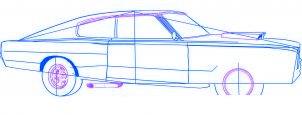 dessiner une voiture Dodge Charger 1969 - etape 4