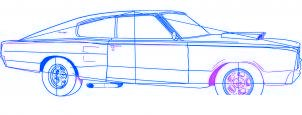dessiner une voiture Dodge Charger 1969 - etape 5
