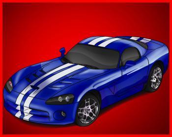 dessin de voiture Dodge Viper terminé