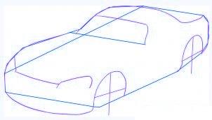 dessiner une voiture Dodge Viper - etape 2