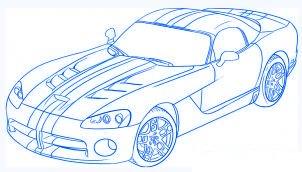 dessiner une voiture Dodge Viper - etape 6