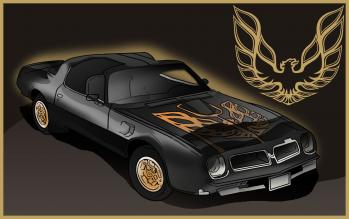 dessin de voiture Pontiac Firebird terminé