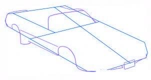 dessiner une voiture Pontiac Firebird - etape 2