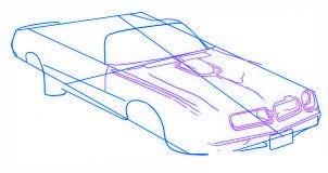 dessiner une voiture Pontiac Firebird - etape 3