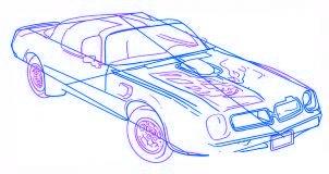 dessiner une voiture Pontiac Firebird - etape 4