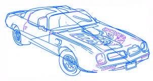 dessiner une voiture Pontiac Firebird - etape 5