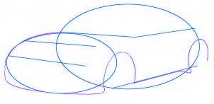 dessiner une voiture Porsche Carrera 911 - etape 2