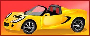 dessin de voiture Lotus Elise terminé