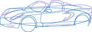dessiner une voiture Lotus Elise - etape 4