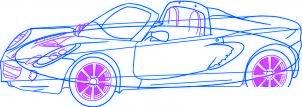 dessiner une voiture Lotus Elise - etape 5