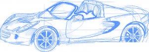 dessiner une voiture Lotus Elise - etape 6