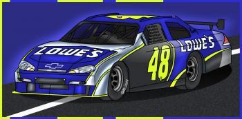 dessin de voiture de course Nascar terminé