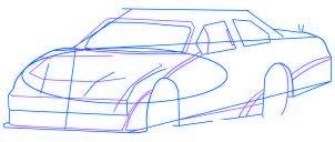 dessiner une voiture de course Nascar - etape 3