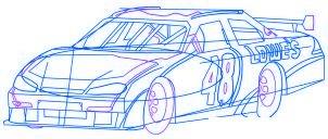 dessiner une voiture de course Nascar - etape 5
