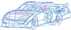 dessiner une voiture de course Nascar - etape 6