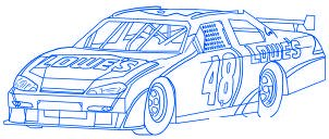dessiner une voiture de course Nascar - etape 7