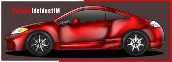 dessin de voiture Mitsubishi Eclipse terminé