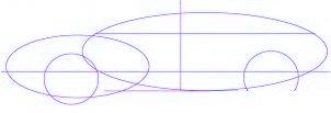 dessiner une voiture Mitsubishi Eclipse - etape 1