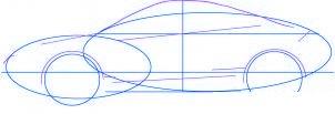 dessiner une voiture Mitsubishi Eclipse - etape 2
