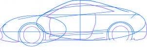 dessiner une voiture Mitsubishi Eclipse - etape 3