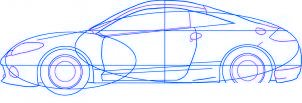 dessiner une voiture Mitsubishi Eclipse - etape 4