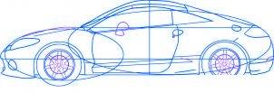 dessiner une voiture Mitsubishi Eclipse - etape 5