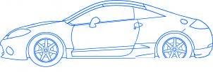 dessiner une voiture Mitsubishi Eclipse - etape 6